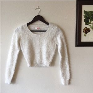 American Apparel Cali Sun & Fun Fuzzy Crop Sweater